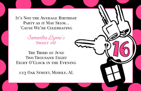 free download 16th birthday invitation with pink polka dot