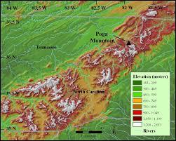 appalachian mountains on map appalachian mountains map projects