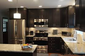 Dark Kitchen Cabinets With White Countertops Kitchen Remodel - Dark kitchen cabinets