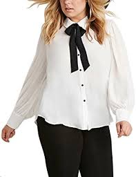bow tie blouse plus size choco mocha s pan collar bow tie blouse shirts plus