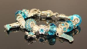 sterling pandora style bracelet images Crystal charms for bracelets round white and blue swarovski jpeg