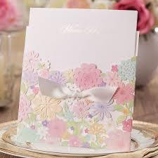 Luxury Wedding Invitation Cards Aliexpress Com Buy Luxury Laser Cut Colorful Flower Lace Wedding