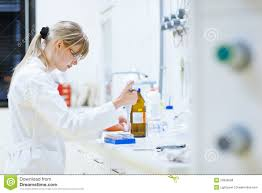 Lab Chemist Female Researcher In A Chemistry Lab Royalty Free Stock Photos