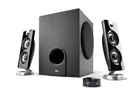 Dorm Room Sound System Cyber Acoustics 2 1 Speaker System With Control Pod