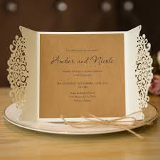 formal white laser cut wedding invitation cards with band swws009