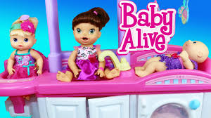 baby alive nursery furniture with doll crib and high chair youtube