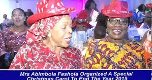 former wife of lagos state mrs abimbola fashola treats children
