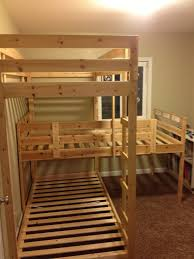Make Wooden Loft Bed by An Update And Building A Triple Bunk Bed Triple Bunk Beds Bunk