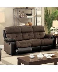 Two Tone Reclining Sofa Amazing Savings On Furniture Of America Fawnie Two Tone