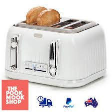 4 Slice Bread Toaster Vintage Style 4 Slice Bread Toaster Electric Reheat Defrost Lift
