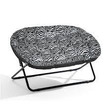 splendid double papasan chair with zebra textured cushion seat and