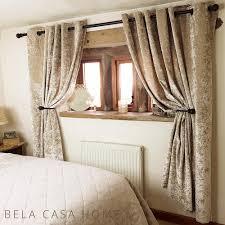 Gold Velvet Curtains Crushed Velvet Eyelet Top Fully Lined Ready Made Curtains Silk