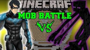 mutant enderman vs nightwing minecraft mod battle mob battles