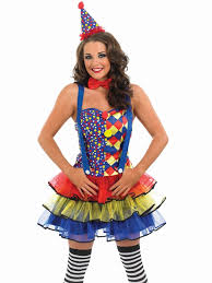 ladies clown fancy dress divas n dudes essex
