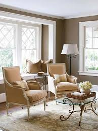 Square Side Tables Living Room Plain White Sofa Plain Pink Wall Painting Grey Wood Wall Finishing