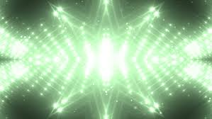 green and gold stage lights tunnel neon lights background disco