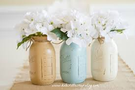 painted mason jars vintage looking home decor distressed
