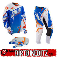 2014 Shot Flexor Motocross Kit Combo Edge Yellow Blue 2014