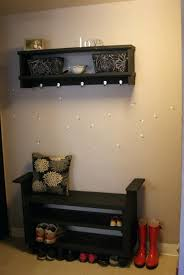 bench hallway bench coat rack furniture wall mount coat rack and