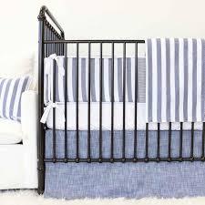 Denim Crib Bedding Gender Neutral Crib Bedding Caden