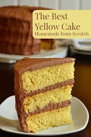 25 yellow cake scratch ideas homemade