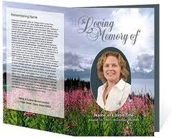 Funeral Program Samples 214 Best Creative Memorials With Funeral Program Templates Images