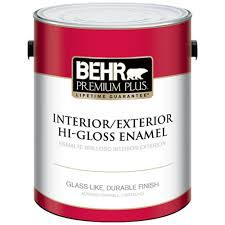 home depot 5 gallon interior paint behr premium plus 1 gal ultra white hi gloss enamel interior