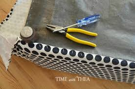 Recover Ottoman How To Recover An Outdated Ottoman Time With Thea