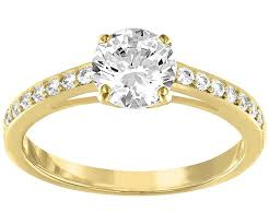 ring gold attract ring white gold plating jewelry swarovski