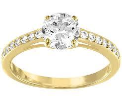 ring gold attract ring white gold plating jewelry swarovski