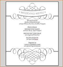 wedding menu template free e photo menu border back gif pay stub