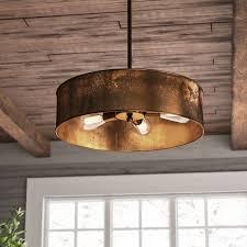 Light Drum Pendant Trent Design Vincent 4 Light Drum Pendant Reviews Wayfair