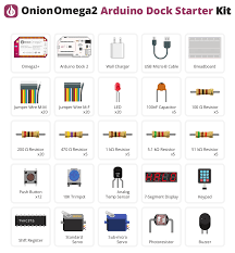 what s included onion omega2 arduino dock starter kit