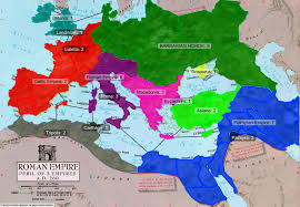 Map Rome Rome Peril Of 3 Empires 260ad Map