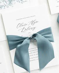 wedding invitations with ribbon ribbon wedding invitations pearl white floral laser cut