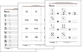 kindergarten worksheets kinderiq