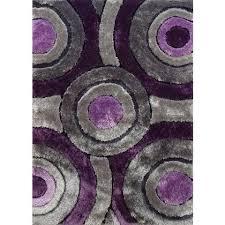 Purple Shag Area Rugs Modern Purple Silver Grey And Black Circular Design Tufted