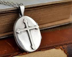 cross locket necklace images Christian locket etsy jpg