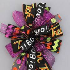 whimsical halloween funky wreath bow party decorations package