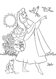 sleeping beauty coloring pages kids printable free coloing