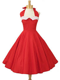 vintage dresses 50s style dresses retro halter dress classic dame clothing usa