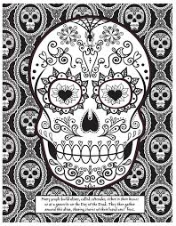 day of the dead skull mask coloring page craftfoxes