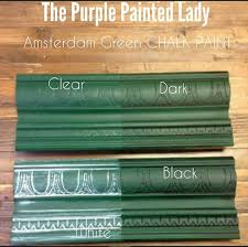chalk paint sample board colors all in a row the purple