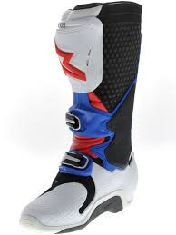 mx riding boots alpinestars new mx tech 10 dirt bike red blue white