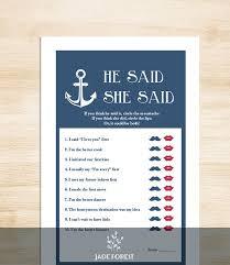 Nautical Bridal Shower Invitations Nautical Bridal Shower Game Diy Nautical Game Navy Anchor