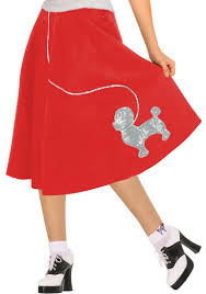 poodle skirt halloween costume red 50s poodle skirt costume costume craze