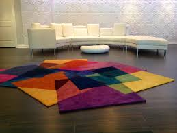 Contemporary Modern Rugs Contemporary Rug Patterned New Zealand Wool Rectangular