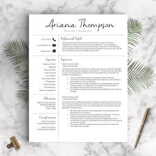 Cute Resume Templates Best 25 Resume Templates For Word Ideas On Pinterest Curriculum