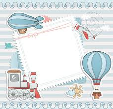 downloadable paper border designs of baby free vector