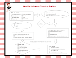 6 weekly house cleaning checklist outline templates